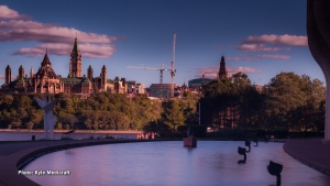 Parliament Hill as seen from Canadian History Museum on the Quebec side. (Kyle Medicraft/CTV Viewer)