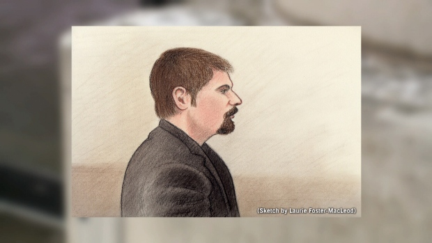 Court sketch of Jeffrey Weber.