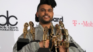 Canadian singer The Weeknd © BRYAN HARAWAY / AFP
