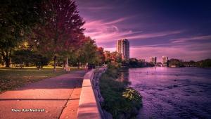 A sunset by Strathcona Park in Ottawa's Sandy Hill neighbourhood. (Kyle Medicraft/CTV Viewer)
