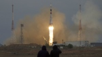 The Soyuz rocket booster with Soyuz MS-2 space ship carrying a new crew to the International Space Station, ISS, blasts off in Russian leased Baikonur cosmodrome, Kazakhstan, on Wednesday, Oct. 19, 2016. (AP / Ivan Sekretarev)