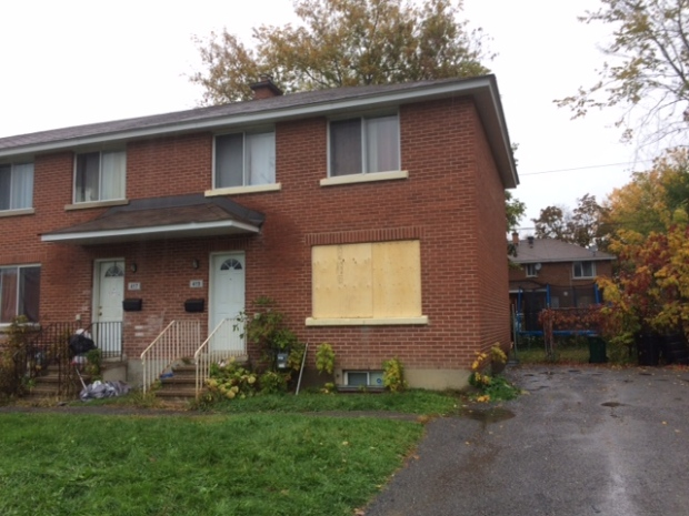 Shot were fired into a home on Prince Albert Street in Overbrook just before midnight on Thursday, Oct. 20, 2016. (Jim O'Grady/CTV Ottawa)