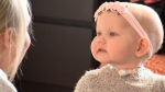 """""""She is bright, she's alert, she's meeting all her milestones"""" says Everley's mother Sarah Patterson."""
