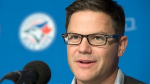 Toronto Blue Jays general manager Ross Atkins holds his season ending news conference in Toronto on Monday, Oct. 24, 2016. (Frank Gunn / THE CANADIAN PRESS)