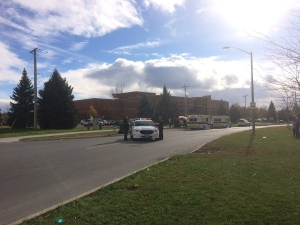 Mother Teresa High School in Barrhaven was on lockdown Tuesday, Oct. 25, 2016.