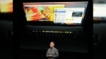 Phil Schiller, Apple's senior vice president of worldwide marketing, speaks about the Touch Bar during an announcement of new products Thursday, Oct. 27, 2016, in Cupertino, Calif. (Marcio Jose Sanchez/AP)
