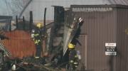 A massive fire destroys a flea market near Smith F