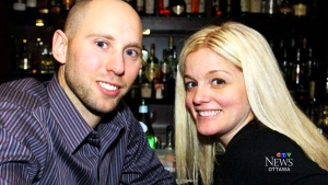 Ottawa Senators goaltender Craig Anderson and his wife Nicholle Anderson in this undated photo.