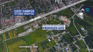 The proposed new site is just down the street from the current Civic Campus.