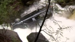 Waterfall rescue caught on camera