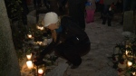 A vigil was held to remember female victims of violence at Minto Park in Ottawa, Dec. 6, 2016