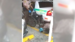 Double amputee falls from wheelchair during arrest