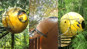 "A trio of unique Qualicum Beach, B.C. treehouses was named among TripAdvisor&#39;s &#39;<a href=""https://www.tripadvisor.ca/TripNews-a_ctr.2015quirkyhotelsEN"" target=""_blank"">12 hotels you need to see to believe</a>.&#39; The ball-shaped accommodations are known as Free Spirit Spheres, located in the canopies of trees in the town between Nanaimo and Courtenay.  