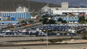 Cars sit at the General Motors assembly plant in Ramos Arizpe, Mexico, on Nov. 21, 2013. (AP / Marco Ugarte)