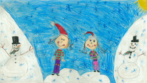 Sophie L. and Olivia D., Grade 2, Westwind P.S.
