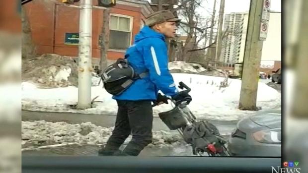 Cyclist in standoff