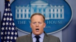 White House press secretary Sean Spicer speaks in the press briefing room at the White House, Saturday, Jan. 21, 2017 in Washington. (AP Photo / Alex Brandon)