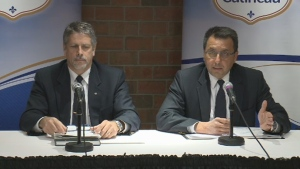 At a press conference held on Tuesday, Jan. 24, 2017 Gatineau's police chief says that an internal investigation concluded that a 30 minute response time to a 911 call was too long because the call had not been properly evaluated.