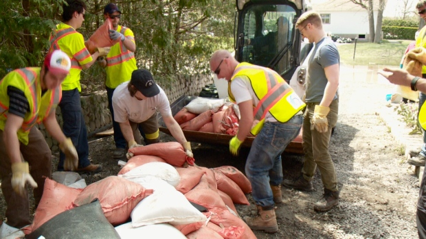 Cumberland flood clean-up
