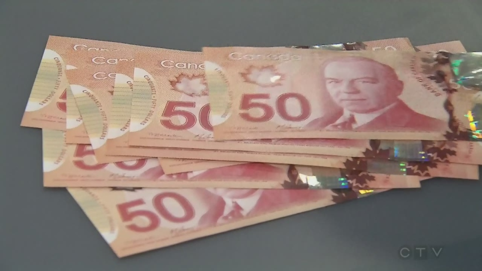 money, canadian, currency, $50