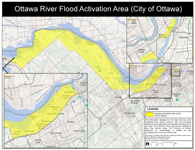 Ottawa River Flood Activation Area