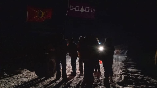 Tyendinaga Via Rail Protest night