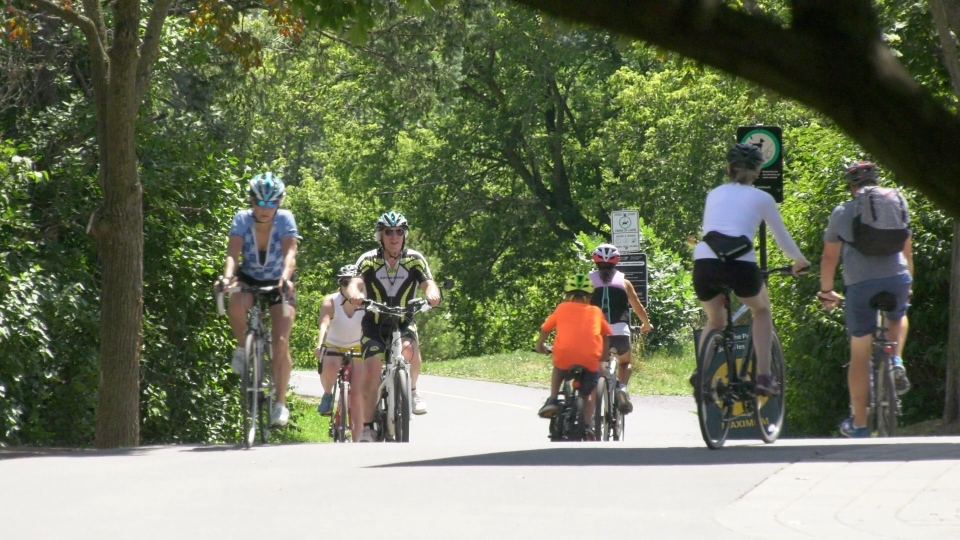 Ottawa cycling bike path summer