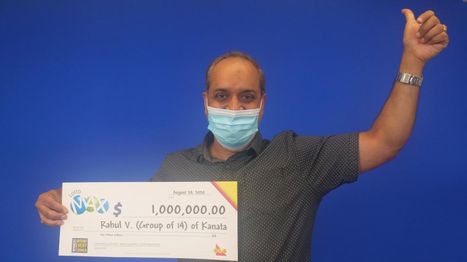 Lottery winner Rahul Vohra