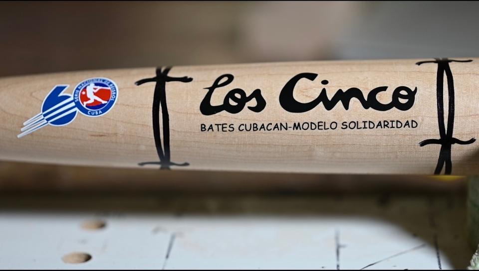 Los Cinco baseball bat by Bill Ryan
