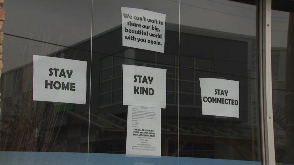 Ottawa closed signs window