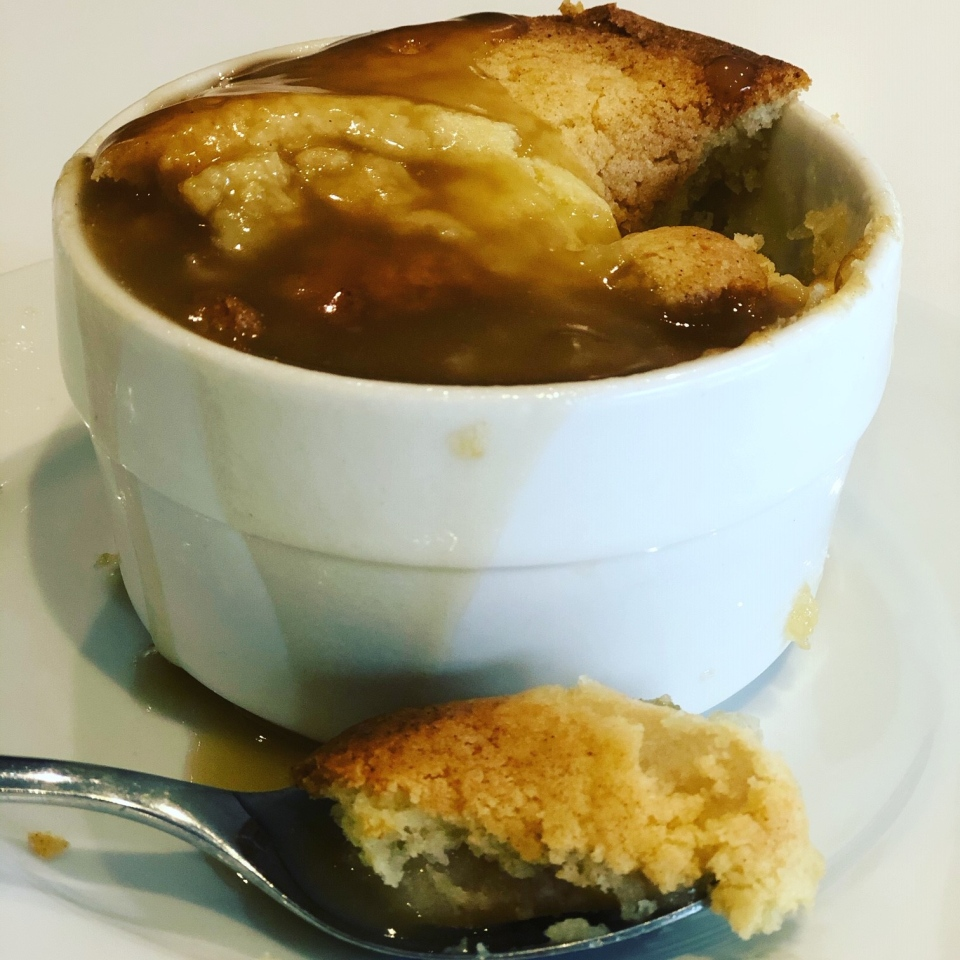 Apple Pudding with Rum Sauce