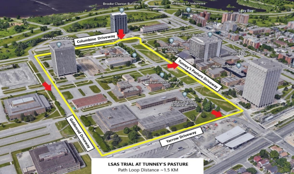 Automated shuttle Tunney's Pasture test loop