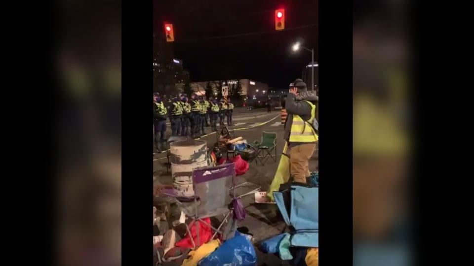 Downtown Ottawa protest