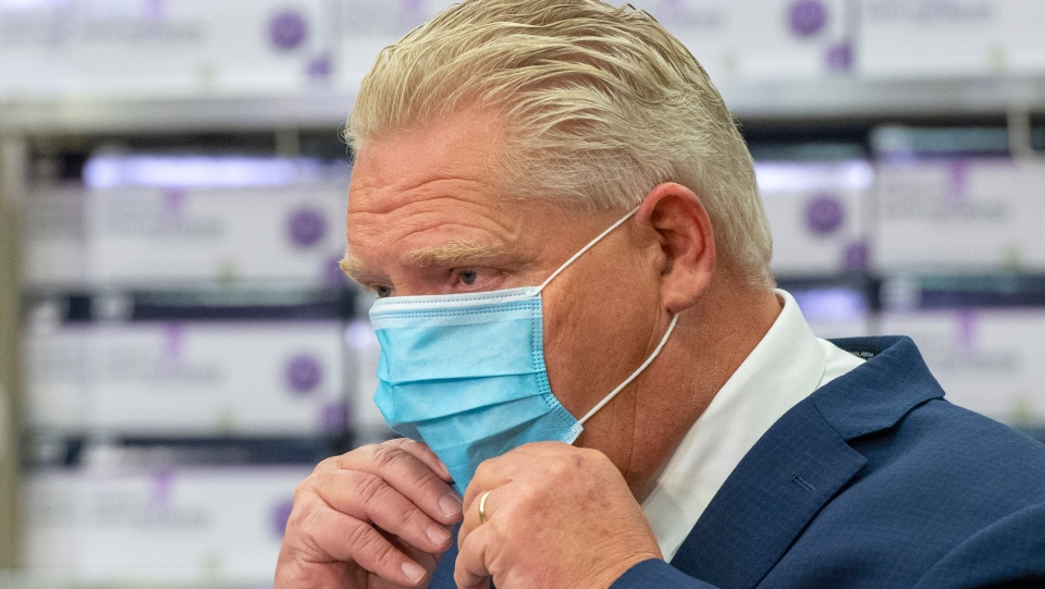 Doug Ford, mask