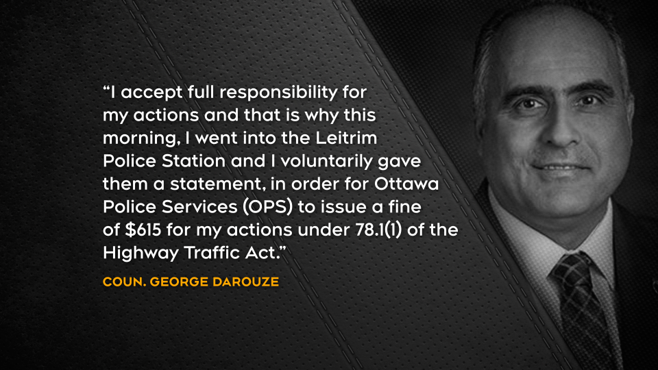 Statement from councillor Darouze