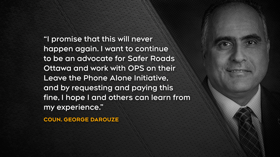 Statement from councillor George Darouze