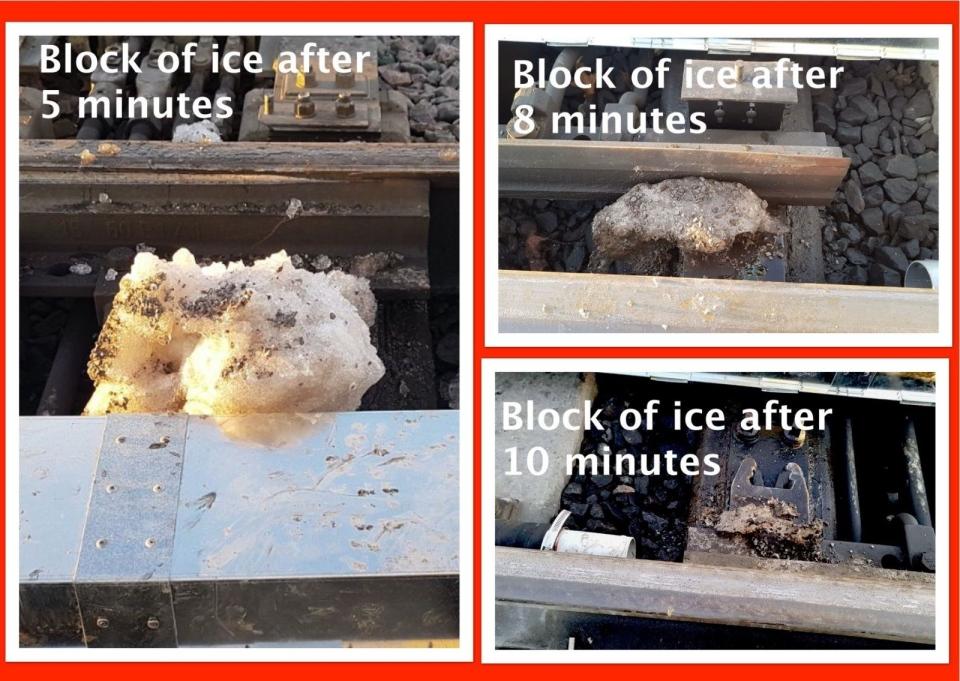 Ice block switch heater test