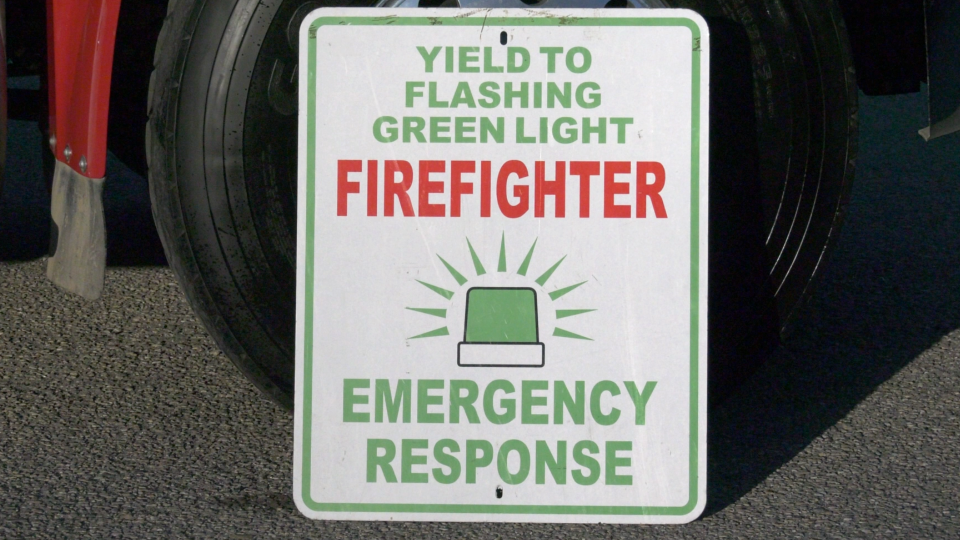 Green lights for firefighters