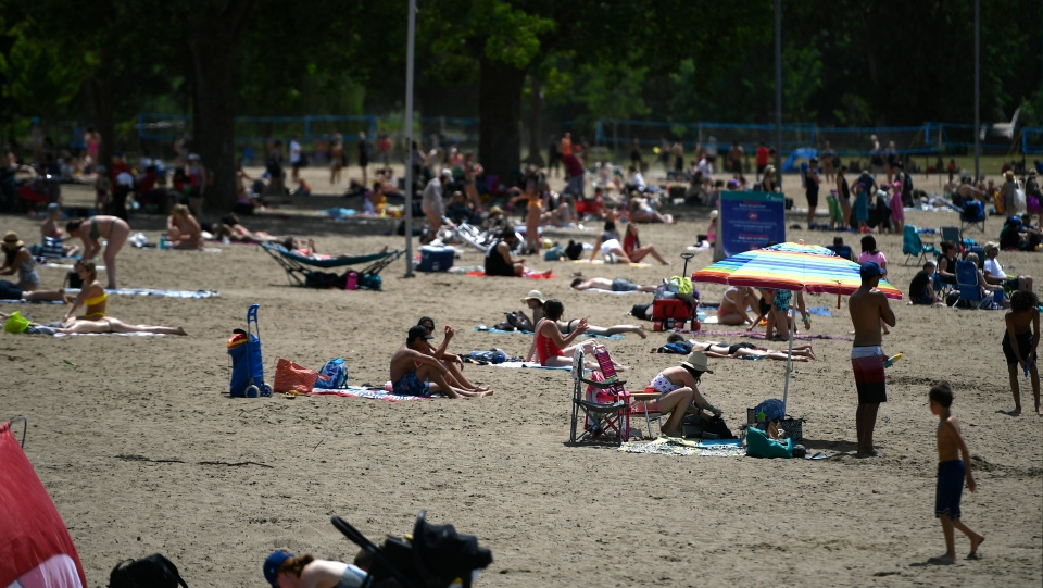 Mooney's Bay Beach in Ottawa