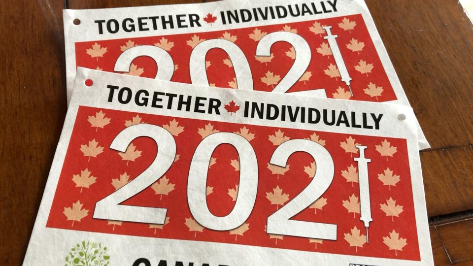 Brockville Road Runners 2021 Canada Day bibs
