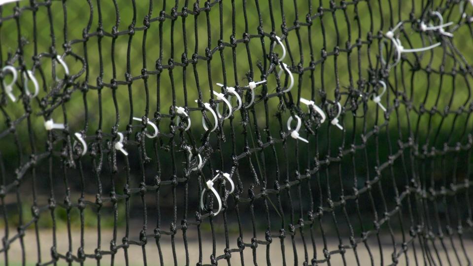 Pickleball nets slashed