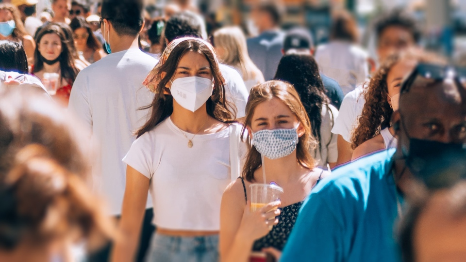 People wearing masks during COVID-19 pandemic