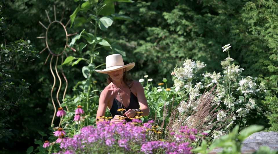 Leanne with brown-eyed susans