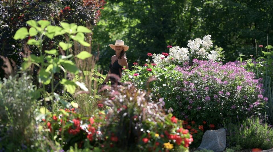 Leanne in the garden