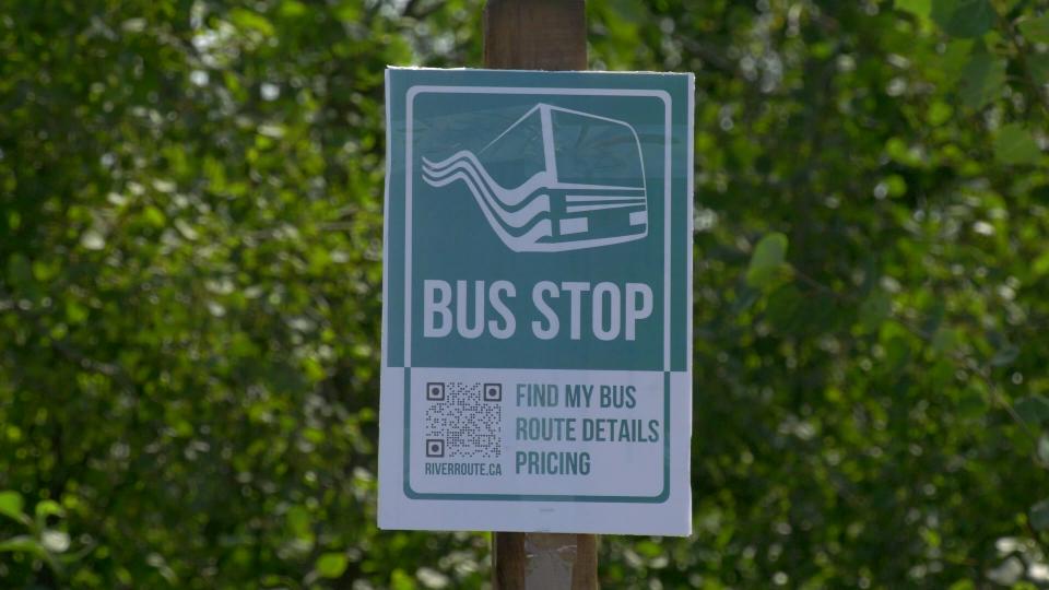 River Route bus stop