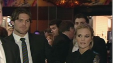 Mike Fisher and Carrie Underwood make thier first public appearance at a fundraiser for the Ottawa Senators in Gatineau, Monday, Jan. 25, 2010.