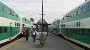 A regional GO Transit train station is seen in this undated photo.