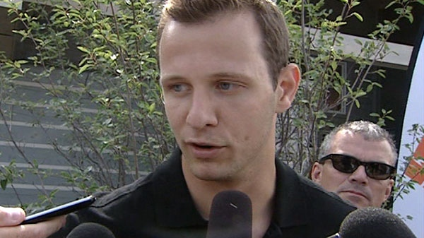 Jason Spezza speaks to reporters about his future as an Ottawa Senator, Tuesday, July 20, 2010.