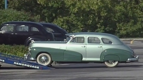 Antique cars roll into Gatineau for the filming of 'On the Road', which is set in the 1940s.