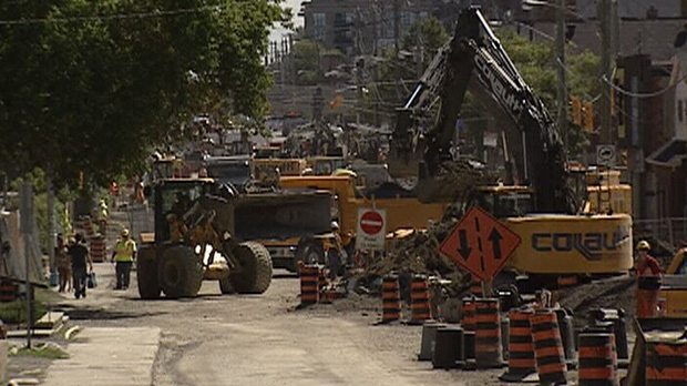 Bronson Avenue in central Ottawa has been closed since Tuesday, March 27, 2012.